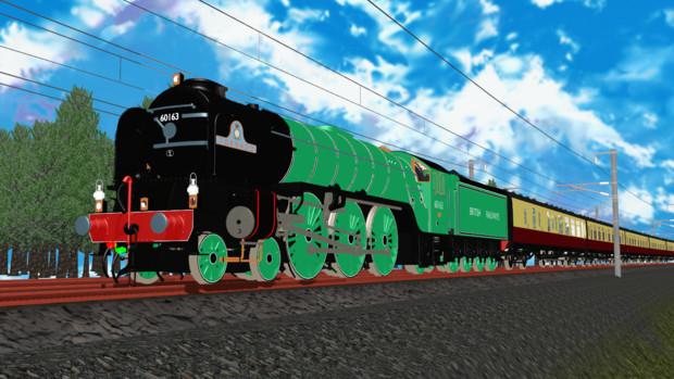 [MMDモデル配布]LNER Peppercorn A1 Tornado 蒸気機関車