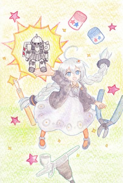 シャア専用ザクⅡを全塗装!【VOICEROID実況】【紲星あかり】【ガンプラ】支援絵