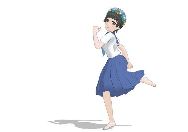 初春飾利 スカートの後ろの揺れも変えてみました