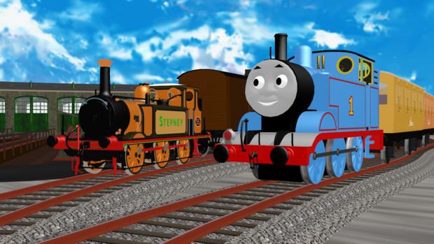 [MMDきかんしゃトーマス]トーマスとステップニー