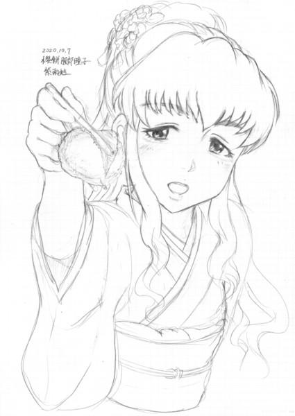 桜餅を「あーん」してくれる春のお茶会服部瞳子