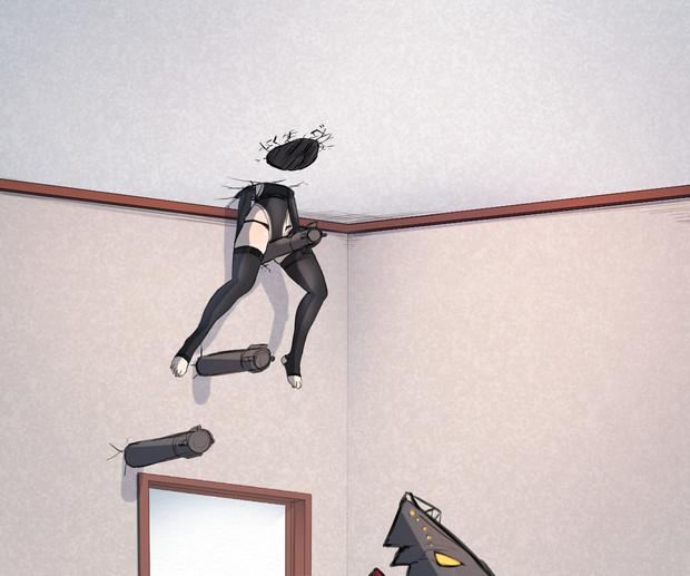 2階にある指揮官の部屋を床から探るU-47(下)