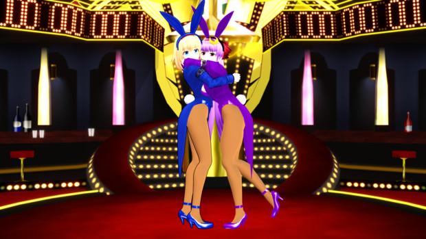 【第1回MMDセクシー静画祭】バニーなアリスさんとパッチェさん2