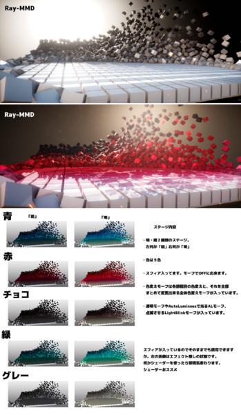 Cubeステージ 【MMDステージ配布】