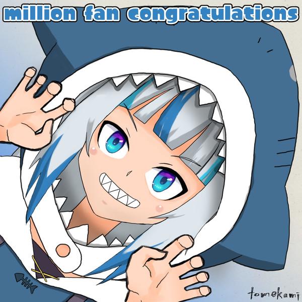 million fan congratulations