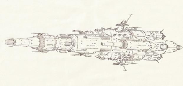 宇宙巡洋戦艦スターリングラード「自作艦」