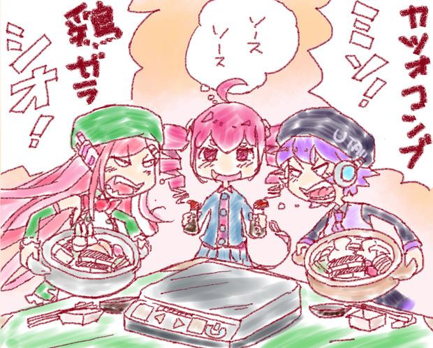 鍋にソース
