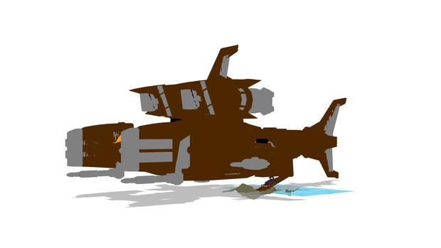 デススティンガー対地狙撃用機動母艦「ハンマーカイザー」