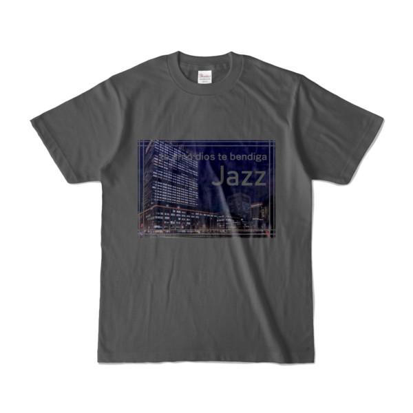 Tシャツ チャコール Jazz_Night_F