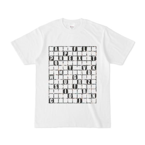 Tシャツ   ホワイト   ALPHABET_GRAVEL