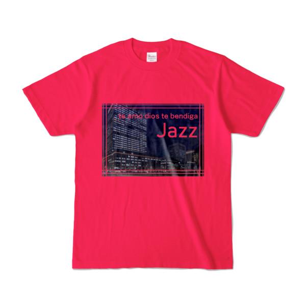 Tシャツ ホットピンク Jazz_Night_F