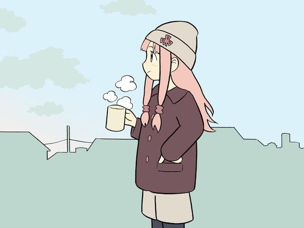 朝焼け空を見る茜