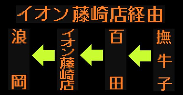 浪岡線のLED方向幕(弘南バス)