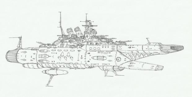 ボルチモア型宇宙巡洋艦「自作艦」
