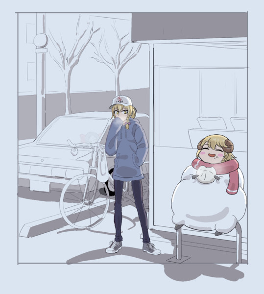冬の日のひつじRIくん