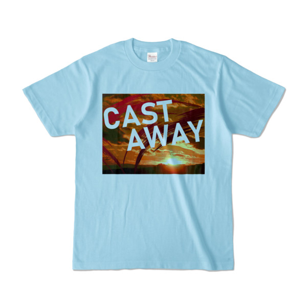 Tシャツ ライトブルー CAST_AWAY_SUNRISE