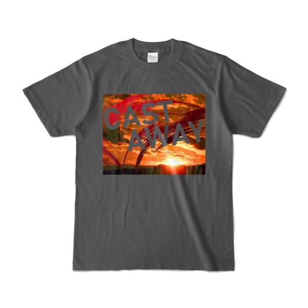 Tシャツ チャコール CAST_AWAY_SUNRISE