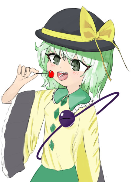 Koishi Eating Cherry