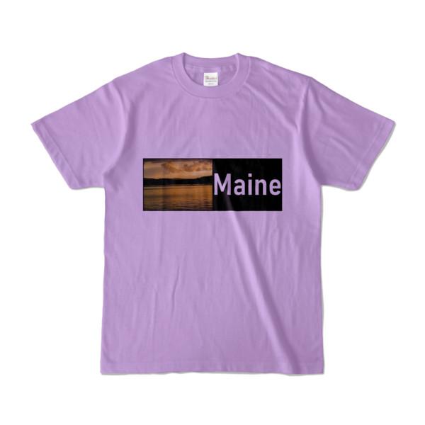 Tシャツ ライトパープル Maine_Lake
