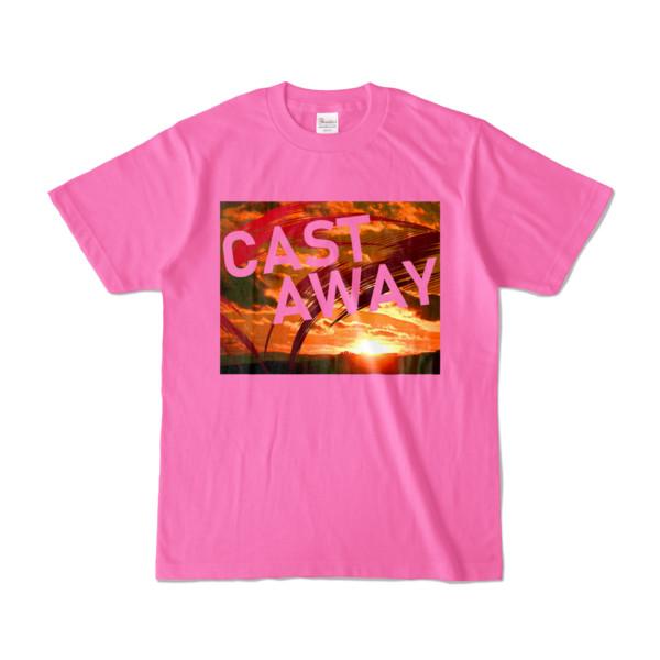 Tシャツ ピンク CAST_AWAY_SUNRISE