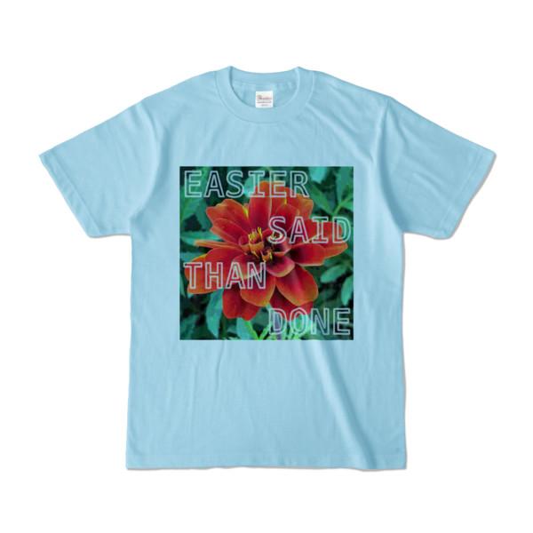 Tシャツ ライトブルー Invective_HANA