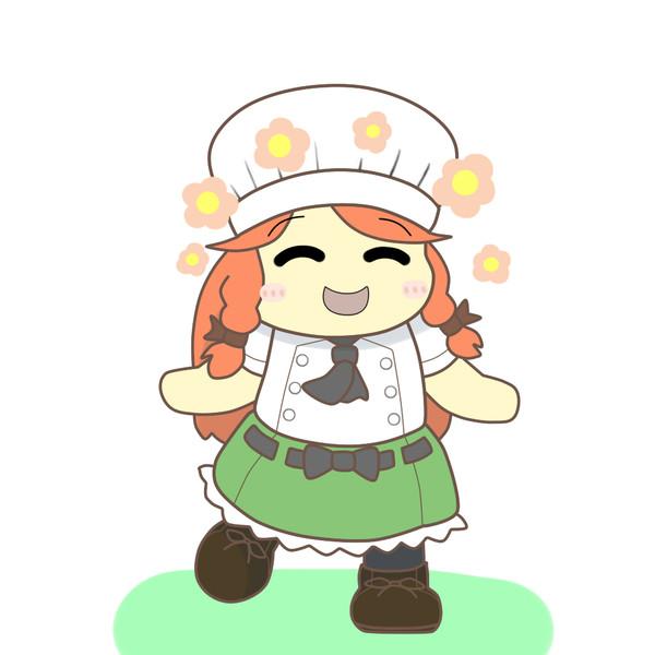 みんなに料理を喜んでもらえて嬉しいコックさん美鈴