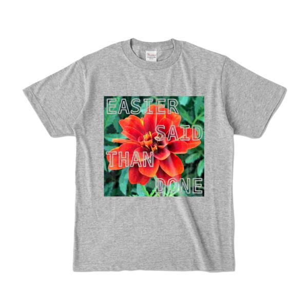 Tシャツ 杢グレー Invective_HANA