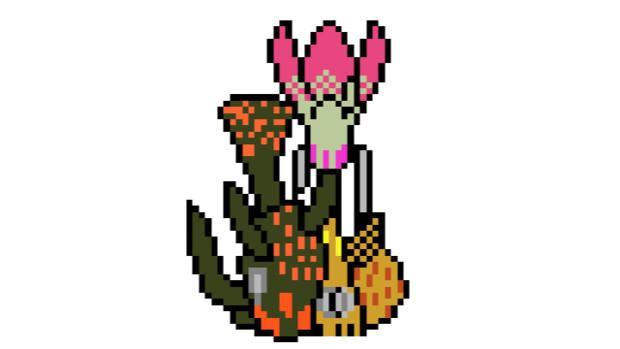 【ドット絵】蛇と邪神とアルフレイム冒険譚のチューリップ(?)
