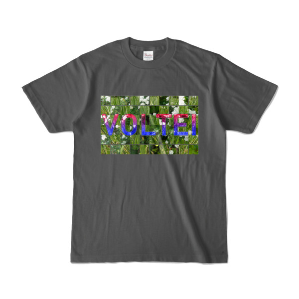 Tシャツ   チャコール   VOLTEI_Grass