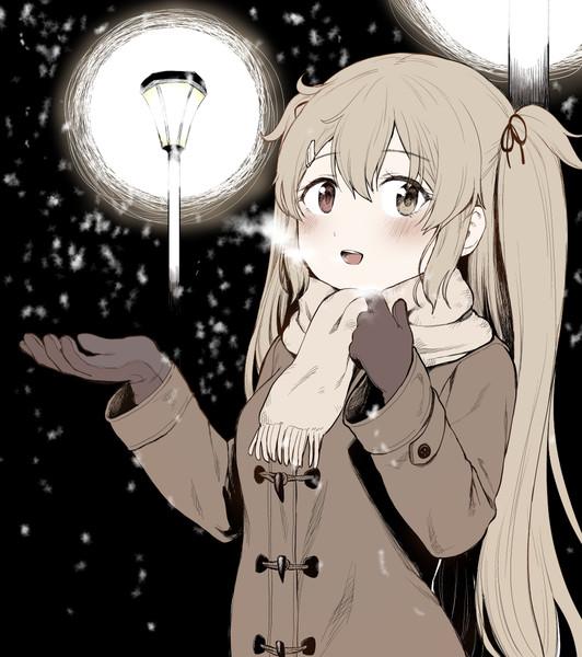 「雪、降ってきた!」