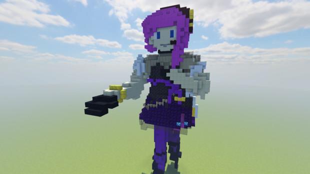 【Minecraft】結月ゆかり_麗・立像