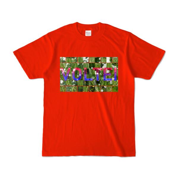 Tシャツ   レッド   VOLTEI_Grass