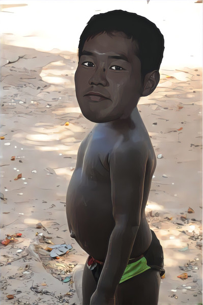 飢餓に苦しむアフリカの子供