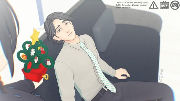 ささやかなクリスマス/黒岩正義,ポニテちゃん/MMD