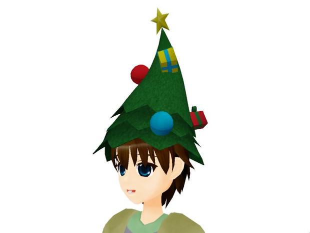 クリスマスツリーハット1配布