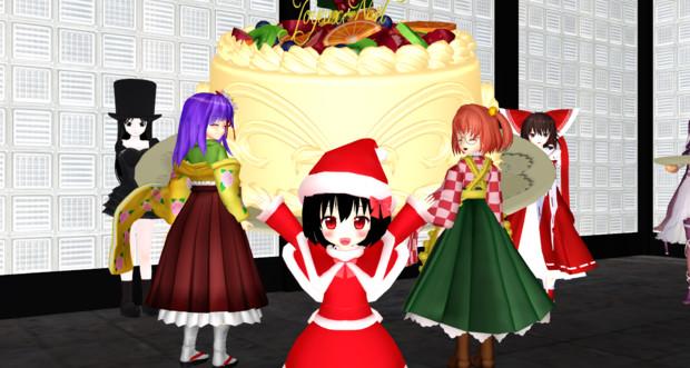 【支援絵】チアキちゃん、皆の為にクリスマスケーキ作った