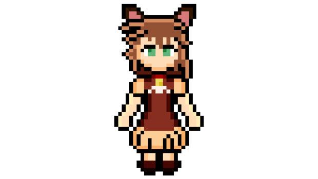 【ドット絵】不幸村のネコ耳