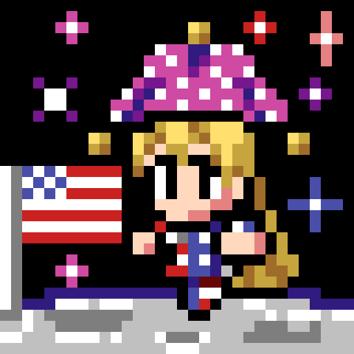 星条旗のピエロ