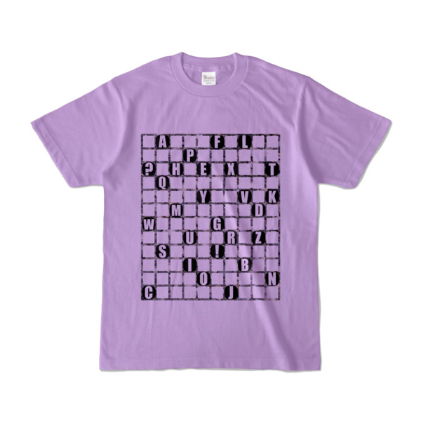 Tシャツ   ライトパープル   ALPHABET_GRAVEL