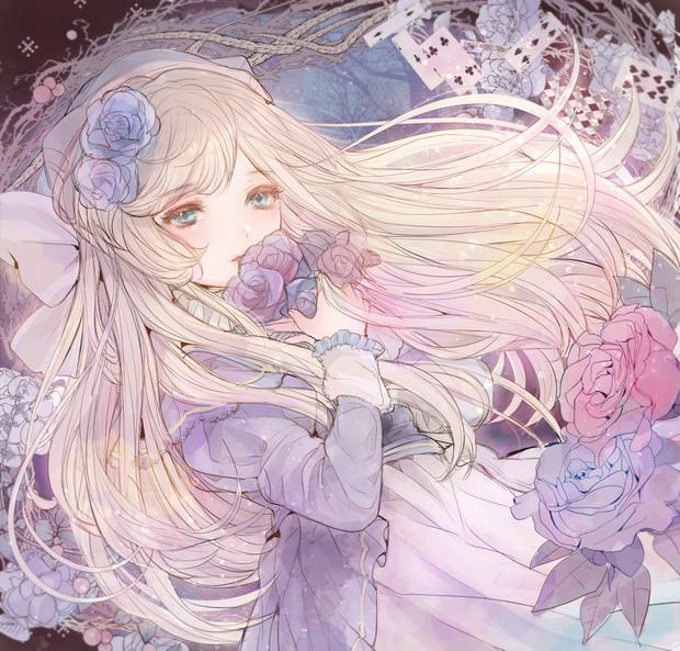青い薔薇の園