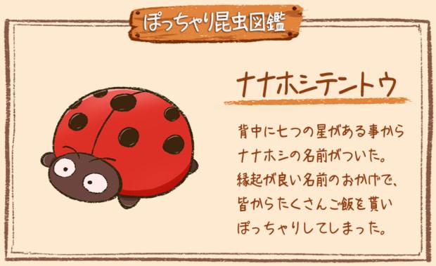 【ぽっちゃり昆虫図鑑】No.005「ナナホシテントウ」