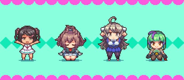 【GIFアニメ】新艦勢ストレッチ