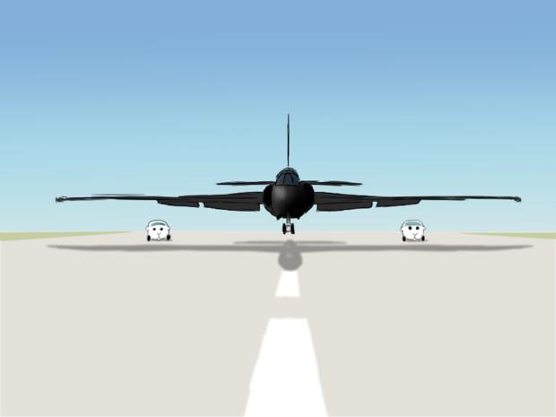 U-2の着陸支援を行うモルカー