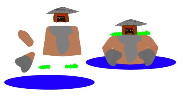 池から上半身だけを出したファイト☆の後ろにいる巨人+分解,png