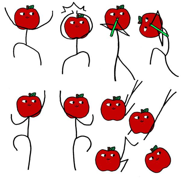 みなぎるりんごろう塗った
