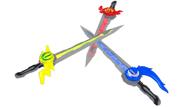 【MMD仮面ライダー】水勢剣流水、雷鳴剣黄雷 【MMDモデル配布あり】