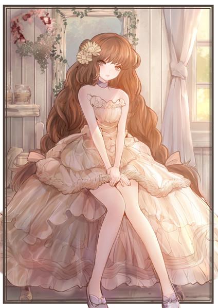 ふわふわクリームドレス(厚塗り版)