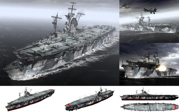 MMD用モブ航空母艦1943(グラーフモッブリン)