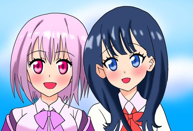2人はずっと友達 六花&アカネ