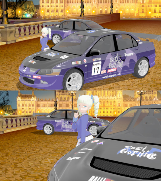MMD ロリゴシックランサー・2代目 アイカツ✕車